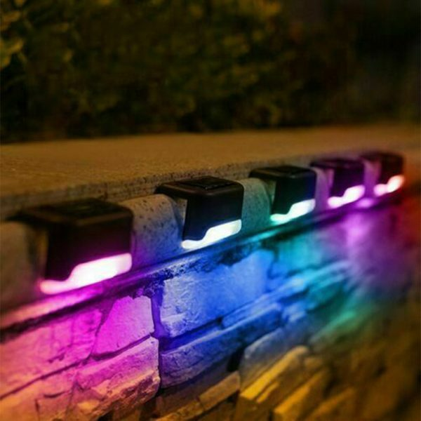 LED Light Solar Powered Staircase Step Light for Outdoor Use_4