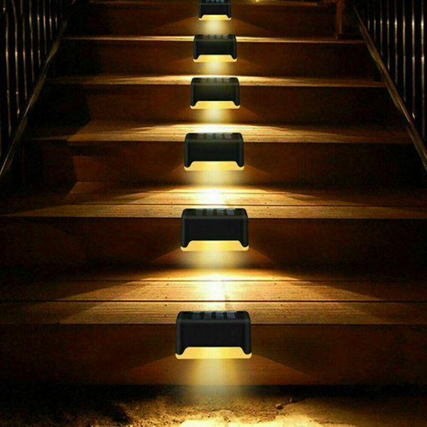 LED Light Solar Powered Staircase Step Light for Outdoor Use_5