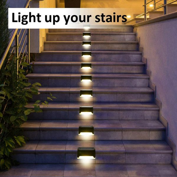 LED Light Solar Powered Staircase Step Light for Outdoor Use_7