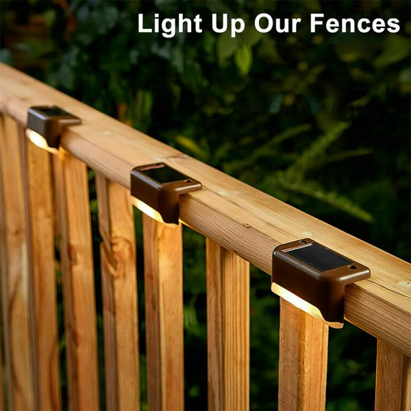 LED Light Solar Powered Staircase Step Light for Outdoor Use_8