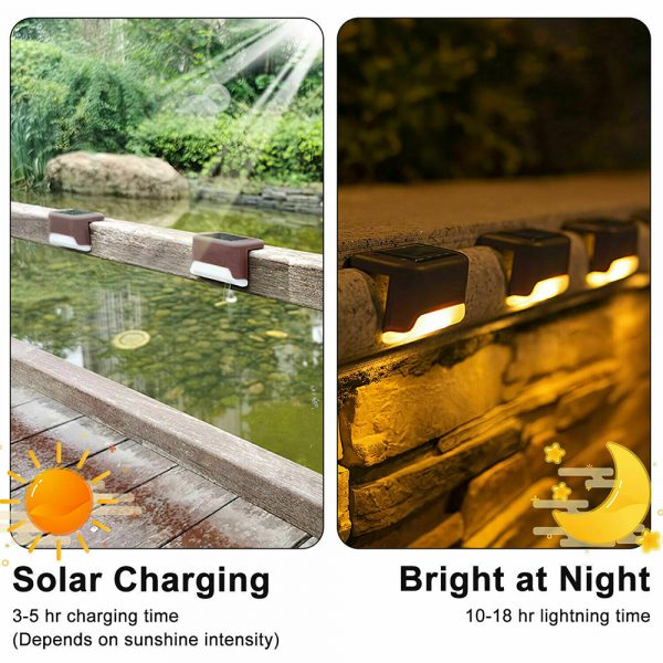 LED Light Solar Powered Staircase Step Light for Outdoor Use_10