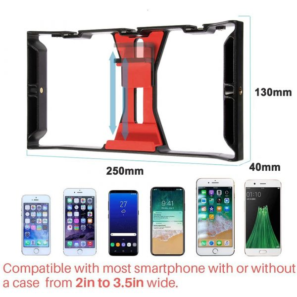 Professional Smartphone Photography Cage Rig Video Stabilizer Grip_3