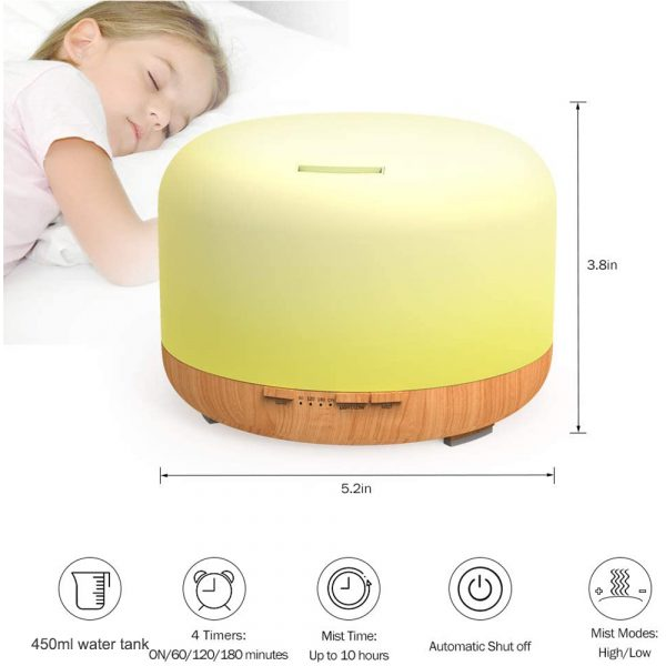 Aroma Therapy Essential Oil Diffuser and Mist Humidifier_5