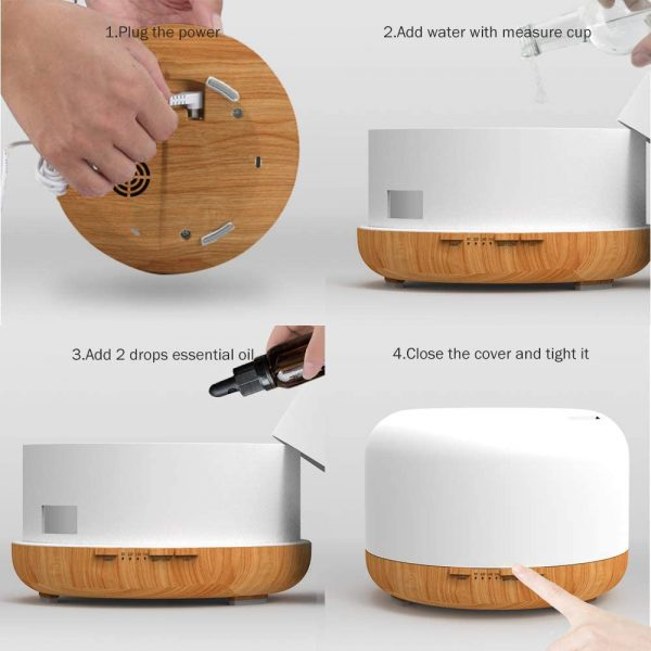 Aroma Therapy Essential Oil Diffuser and Mist Humidifier_7