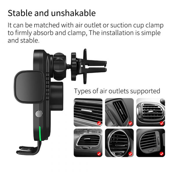 15 W Fast Wireless Car Mobile Phone Holder and QI Charger_14