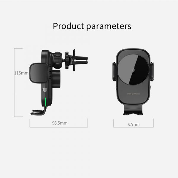 15 W Fast Wireless Car Mobile Phone Holder and QI Charger_17