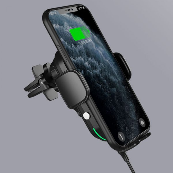 15 W Fast Wireless Car Mobile Phone Holder and QI Charger_6