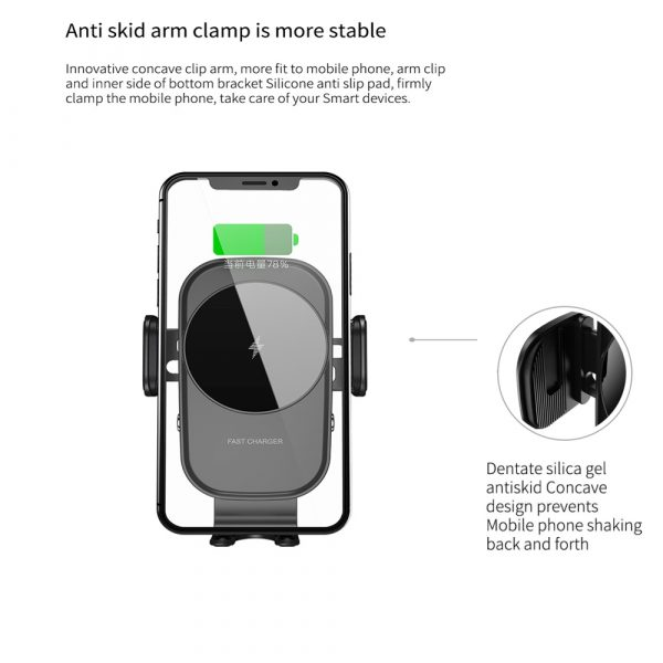 15 W Fast Wireless Car Mobile Phone Holder and QI Charger_10