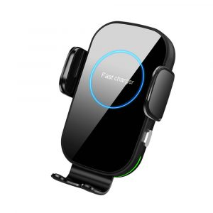 15W Fast Charging Wireless Car Phone Holder and QI Charger