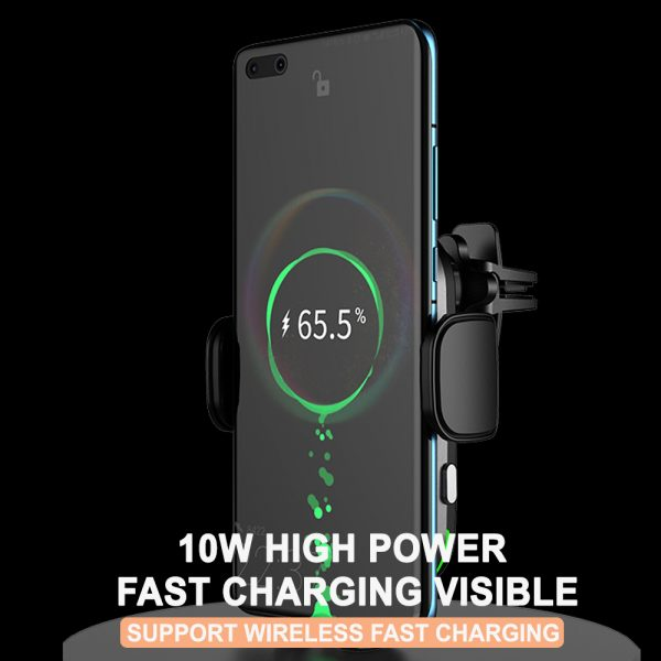 15W Fast Charging Wireless Car Phone Holder and QI Charger_6