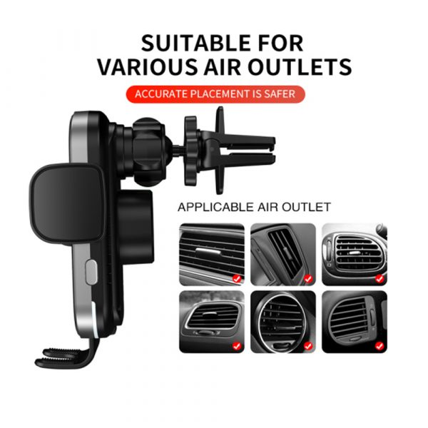 15W Fast Charging Wireless Car Phone Holder and QI Charger_10