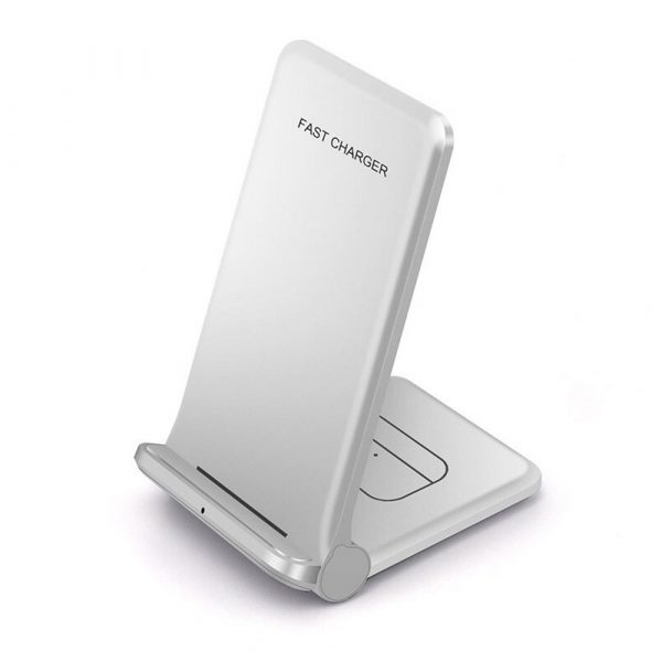 2-in-1 Foldable QI Enabled Wireless Charger Fast Charging Dock_2