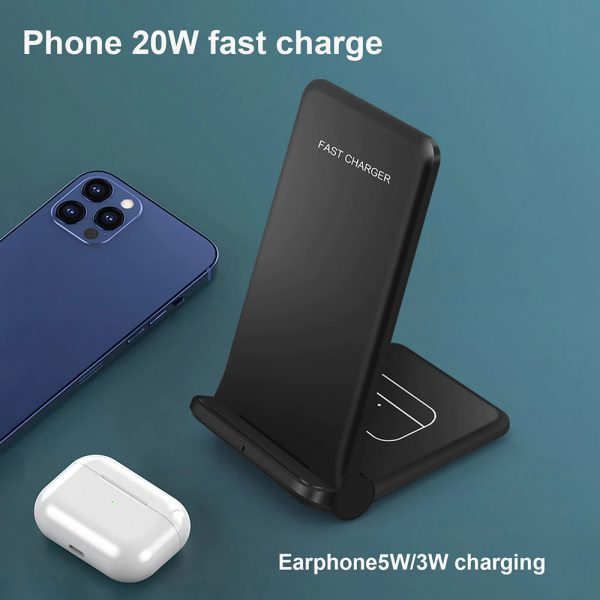 2-in-1 Foldable QI Enabled Wireless Charger Fast Charging Dock_10