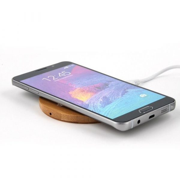 Portable Wireless Wooden Charging Pad for QI Enabled Devices_0