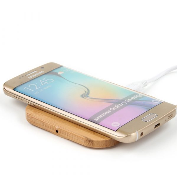 Portable Wireless Wooden Charging Pad for QI Enabled Devices_1