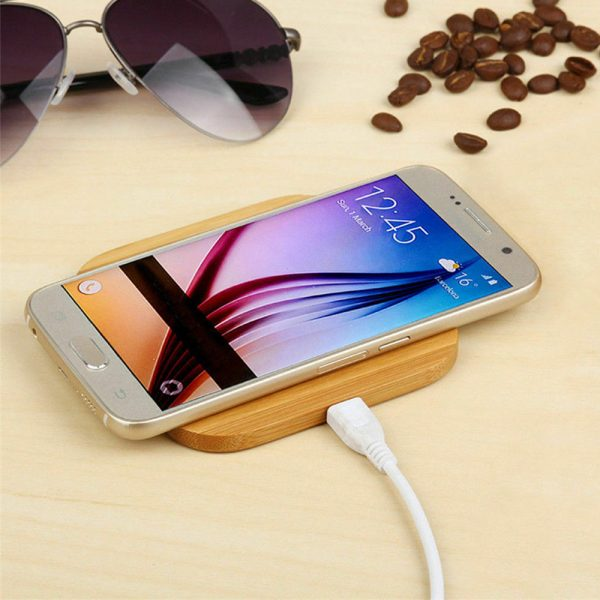 Portable Wireless Wooden Charging Pad for QI Enabled Devices_8