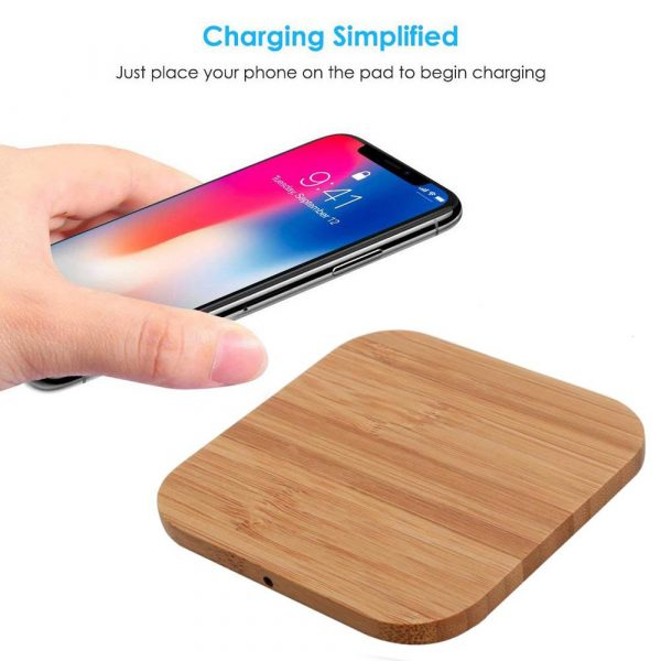Portable Wireless Wooden Charging Pad for QI Enabled Devices_11