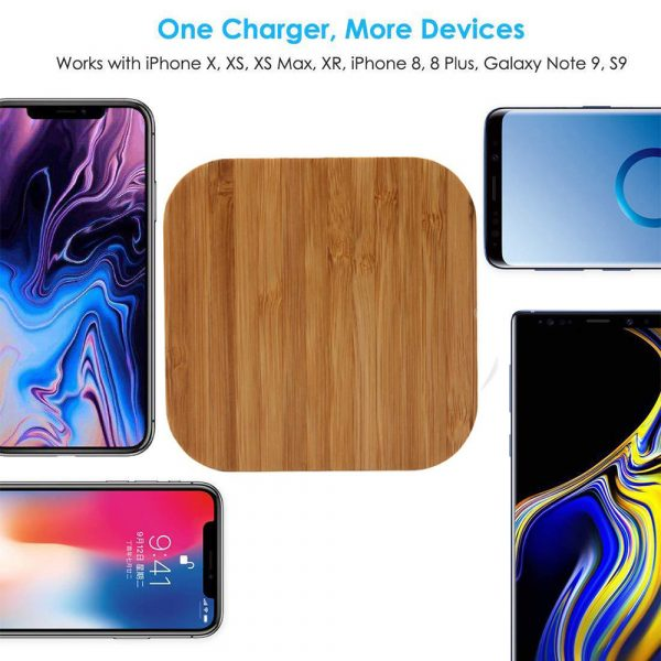 Portable Wireless Wooden Charging Pad for QI Enabled Devices_12