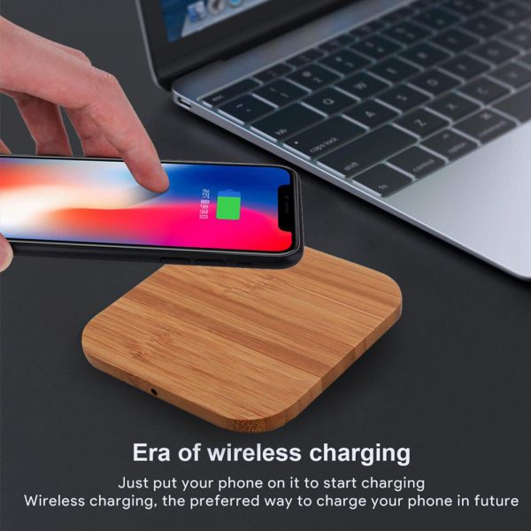 Portable Wireless Wooden Charging Pad for QI Enabled Devices_13