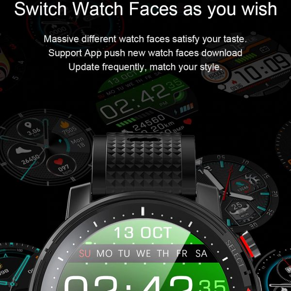 L15 Full Touch Display Smart Watch BT Control Fitness Watch_9