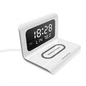 2-in-1 Multifunctional Digital Clock and Fast Wireless Charger