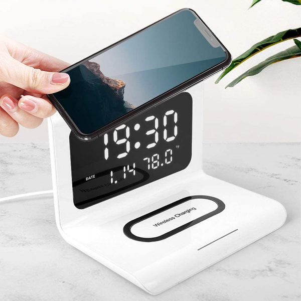 2-in-1 Multifunctional Digital Clock and Fast Wireless Charger_2