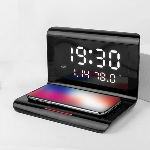 2-in-1 Multifunctional Digital Clock and Fast Wireless Charger_4