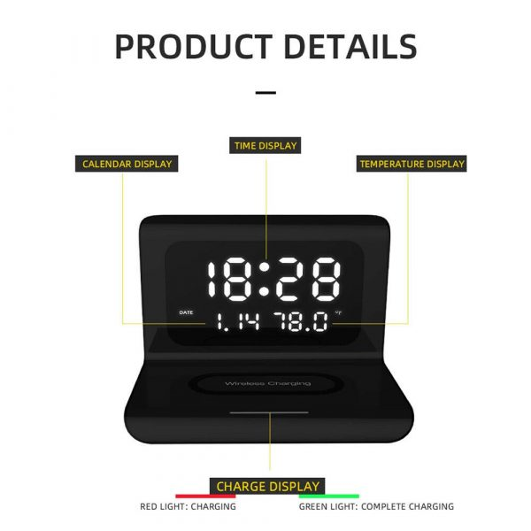 2-in-1 Multifunctional Digital Clock and Fast Wireless Charger_9