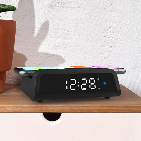 Digital Alarm Clock with Wireless Charging Pad for QI Devices_15