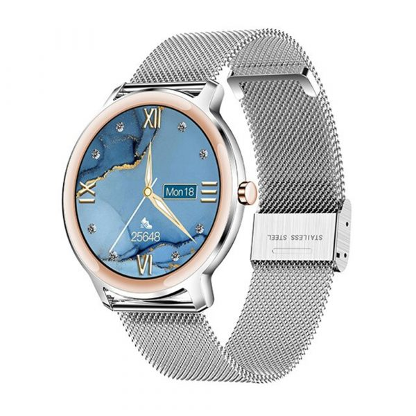 Full Touch Screen iOS Android Support Smart Watch for Women_0