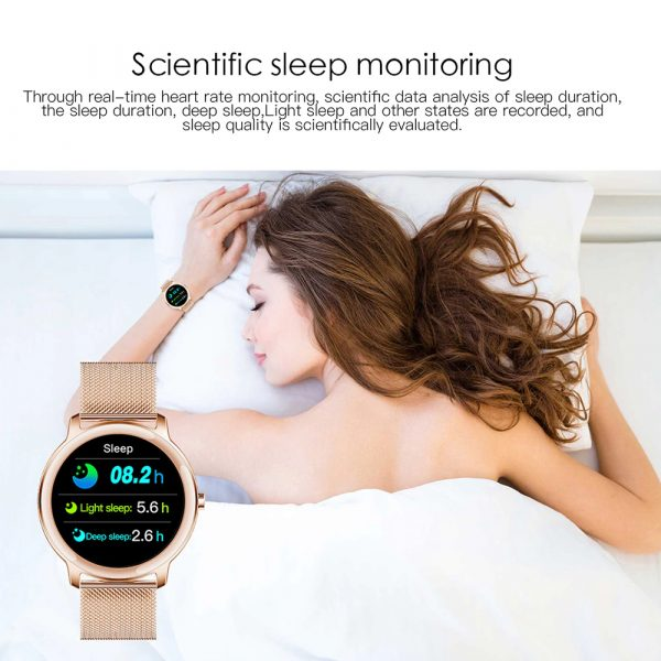 Full Touch Screen iOS Android Support Smart Watch for Women_14