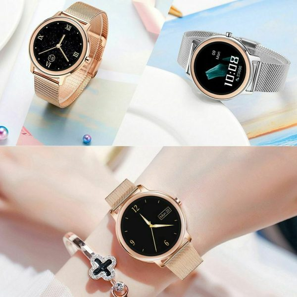 Full Touch Screen iOS Android Support Smart Watch for Women_16