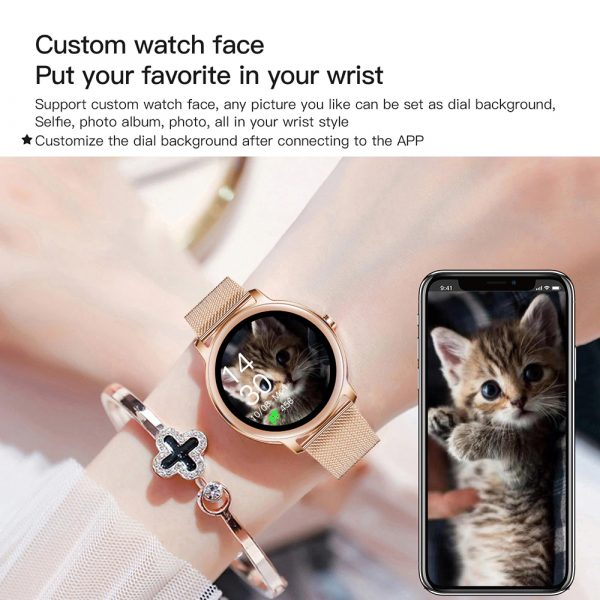 Full Touch Screen iOS Android Support Smart Watch for Women_7