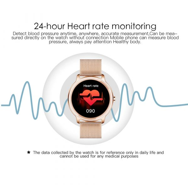 Full Touch Screen iOS Android Support Smart Watch for Women_8