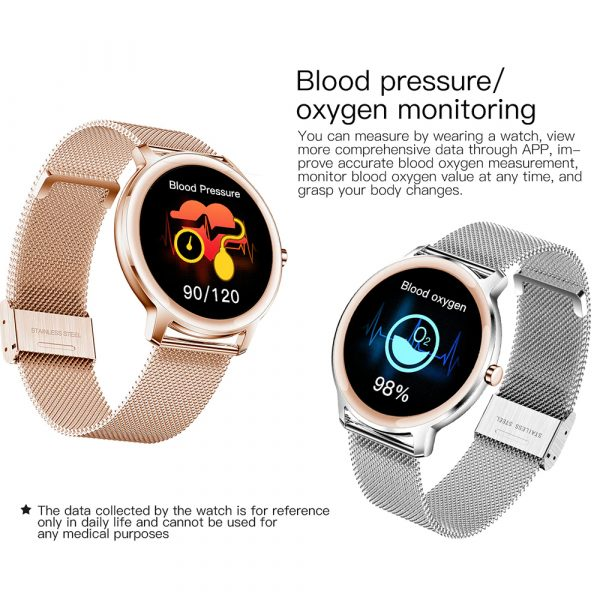 Full Touch Screen iOS Android Support Smart Watch for Women_9