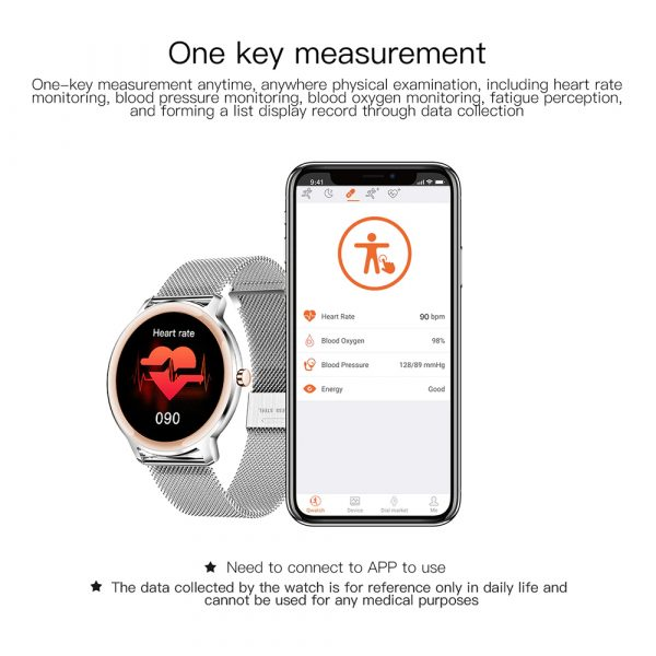 Full Touch Screen iOS Android Support Smart Watch for Women_10