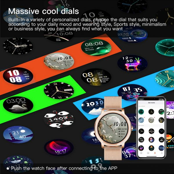 Full Touch Screen iOS Android Support Smart Watch for Women_11