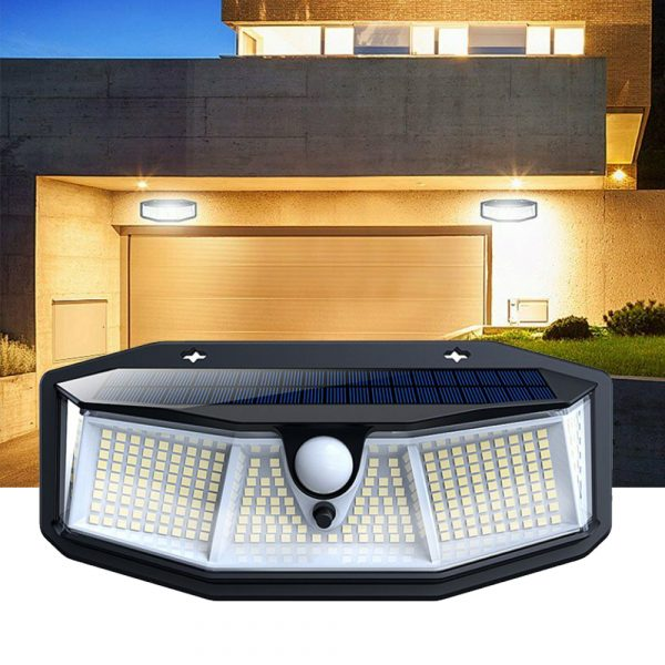 308 LED Human Body Induction Solar Powered Outdoor Lamp_1