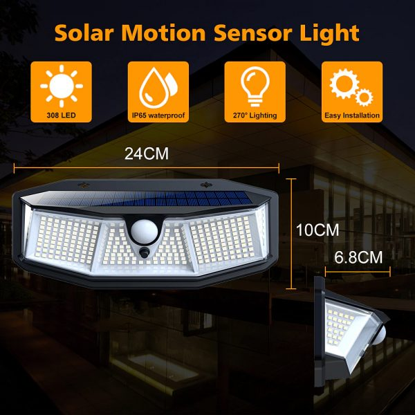 308 LED Human Body Induction Solar Powered Outdoor Lamp_2