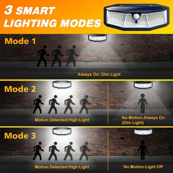 308 LED Human Body Induction Solar Powered Outdoor Lamp_4