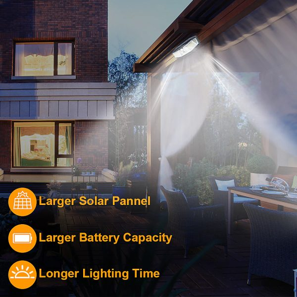 308 LED Human Body Induction Solar Powered Outdoor Lamp_7