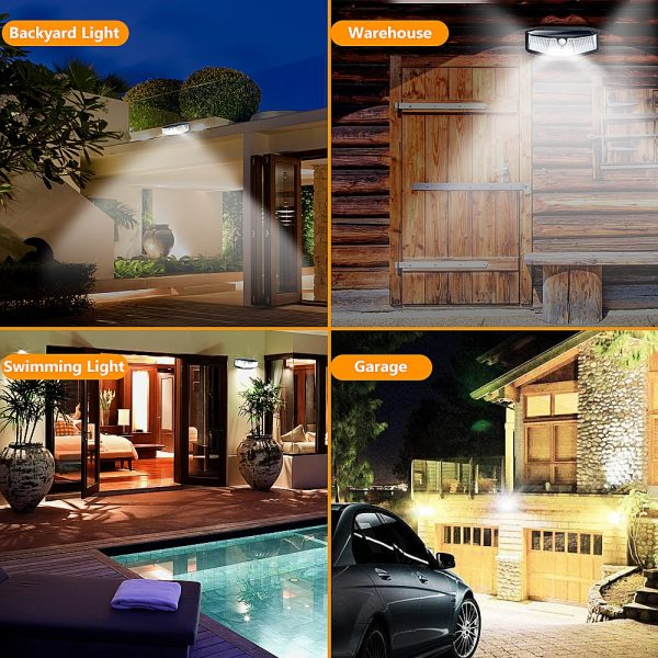 308 LED Human Body Induction Solar Powered Outdoor Lamp_8