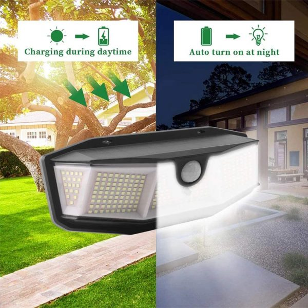 308 LED Human Body Induction Solar Powered Outdoor Lamp_9