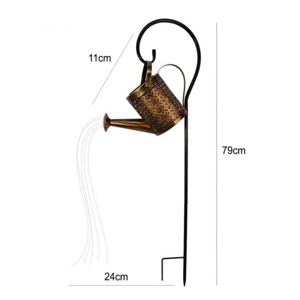 Solar Powered Watering Can LED String Light Outdoor Garden Décor_13