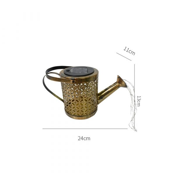 Solar Powered Watering Can LED String Light Outdoor Garden Décor_14