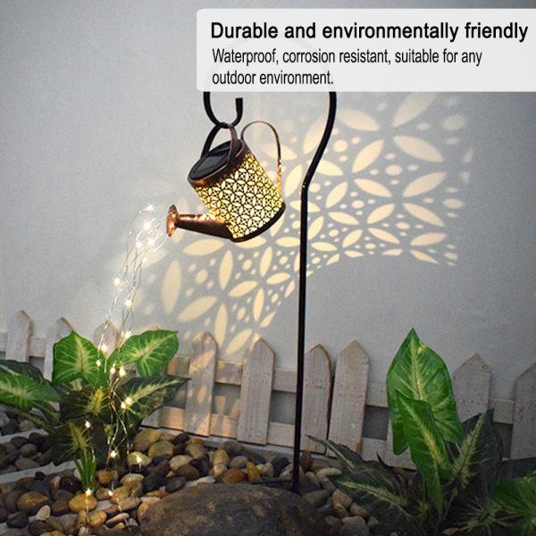 Solar Powered Watering Can LED String Light Outdoor Garden Décor_6