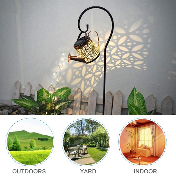 Solar Powered Watering Can LED String Light Outdoor Garden Décor_10