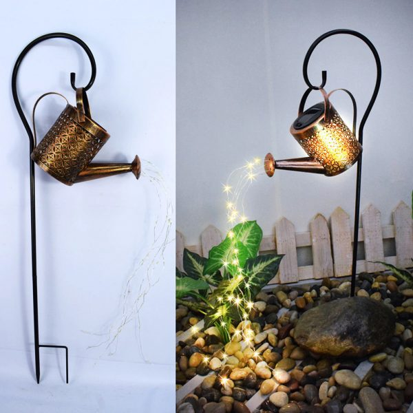 Solar Powered Watering Can LED String Light Outdoor Garden Décor_12
