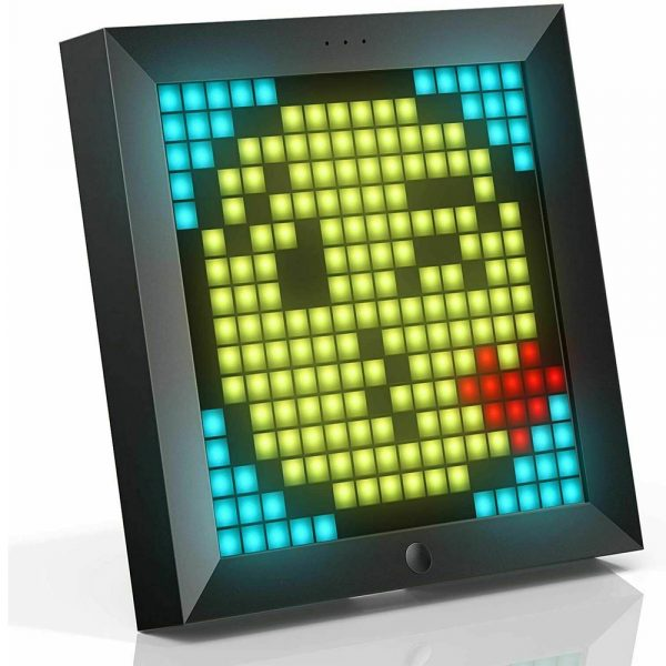 Pixel Bluetooth Photo Frame with Colorful LED Light Wall Clock_0