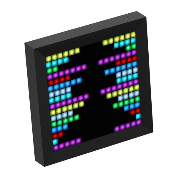 Pixel Bluetooth Photo Frame with Colorful LED Light Wall Clock_1